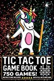 Tic Tac Toe Game Book 750 Puzzles: Magic Unicorn With Instructions and Scorecard Travel Size