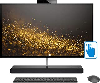 """HP Envy 27 QHD Touch Premium Home and Business All-in-One Desktop (Intel 8th Gen i7-8700T 6-cores, 32GB RAM, 2TB HDD + 1TB PCIe SSD, 27"""" QHD Touchscreen 2560x1440, GeForce GTX 1050, Win 10 Pro)"""