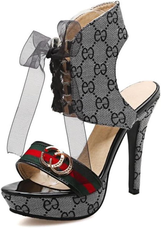 Women's high Heel Sandals Thick with high Heel Waterproof shoes
