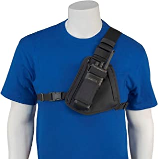 HOLSTERGUY RCH-101B Radio Chest Harness Chest Pack Shoulder Radio Holster with an Adjustable Single Radio Pouch for Motoro...