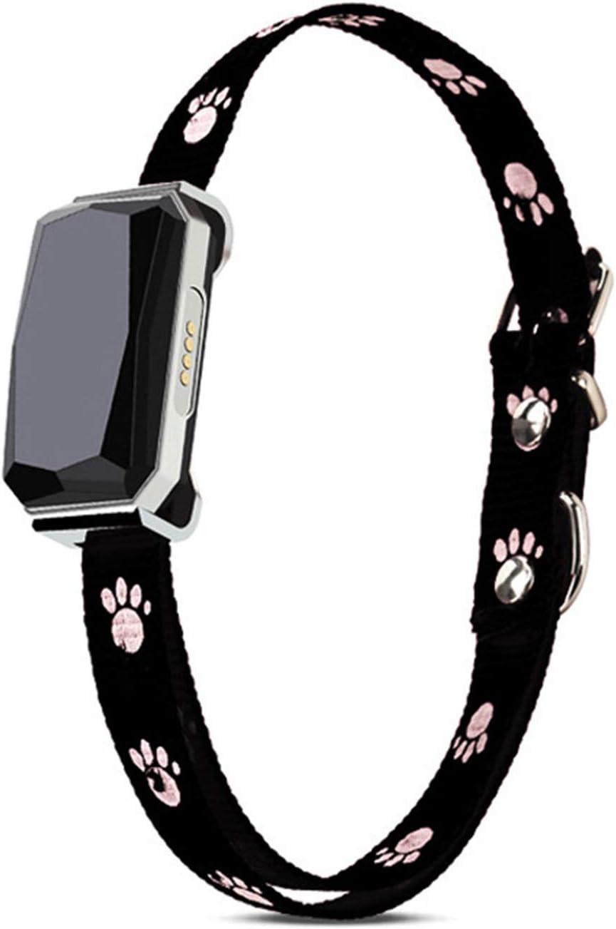 WIJIN Rastreador de mascotas, collar inteligente para ladridos de perro con notificaciones de aplicación, GPS+WIFI+LBS para monitorizar la ubicación en vivo para mascotas de cualquier tamaño