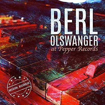 Berl Olswanger at Pepper Records