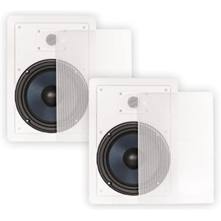 """Blue Octave BDW82 in Wall 8"""" Speakers 2 Way Home Theater Surround Sound Pair"""