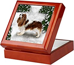 CafePress SF CKCS Keepsake Box, Finished Hardwood Jewelry Box, Velvet Lined Memento Box