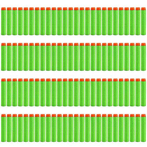 Darts Pfeile für Nerf Zubehör, 7.2cm Refill Bullets Pfeile Nachfüllpack Darts für N-Strike Elite Blasters Spielzeugpistole 200 Stück Grün