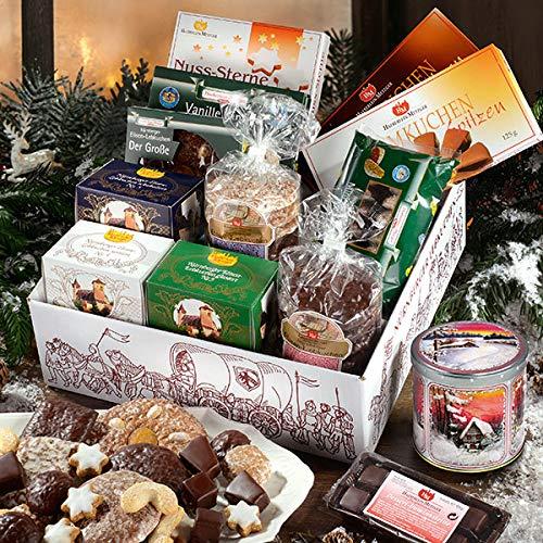 Lebkuchen-Postpaket, Süßigkeiten-Box, Geschenkidee für Männer & Frauen, mit Vanillekipferl & Co, süßer Mix, 1 x 3,45 kg