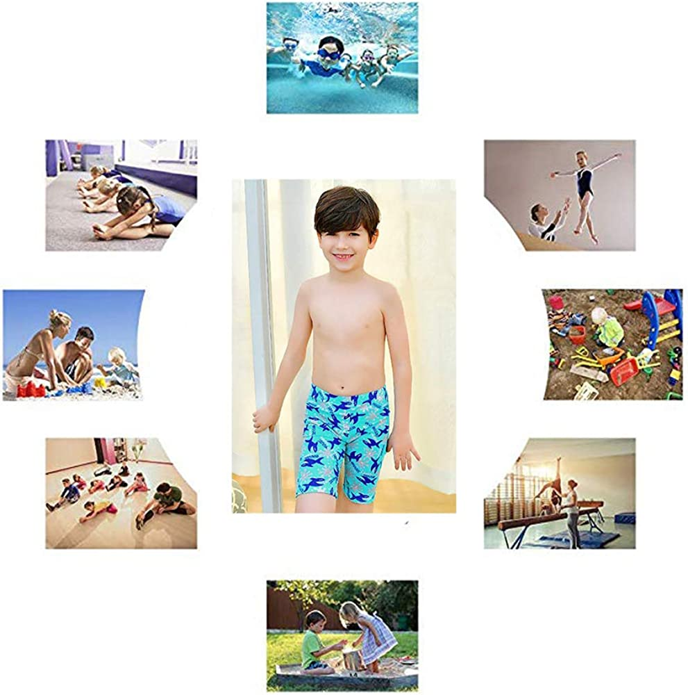 FUIBENG Boys Swim Trunks Quick Dry Swimming Shorts for Kids Beach Boardshorts Surf Pants for 5-14 Years