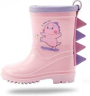 dripdrop Toddler Kids Rain Boots Waterproof Wellies for Girls Boys