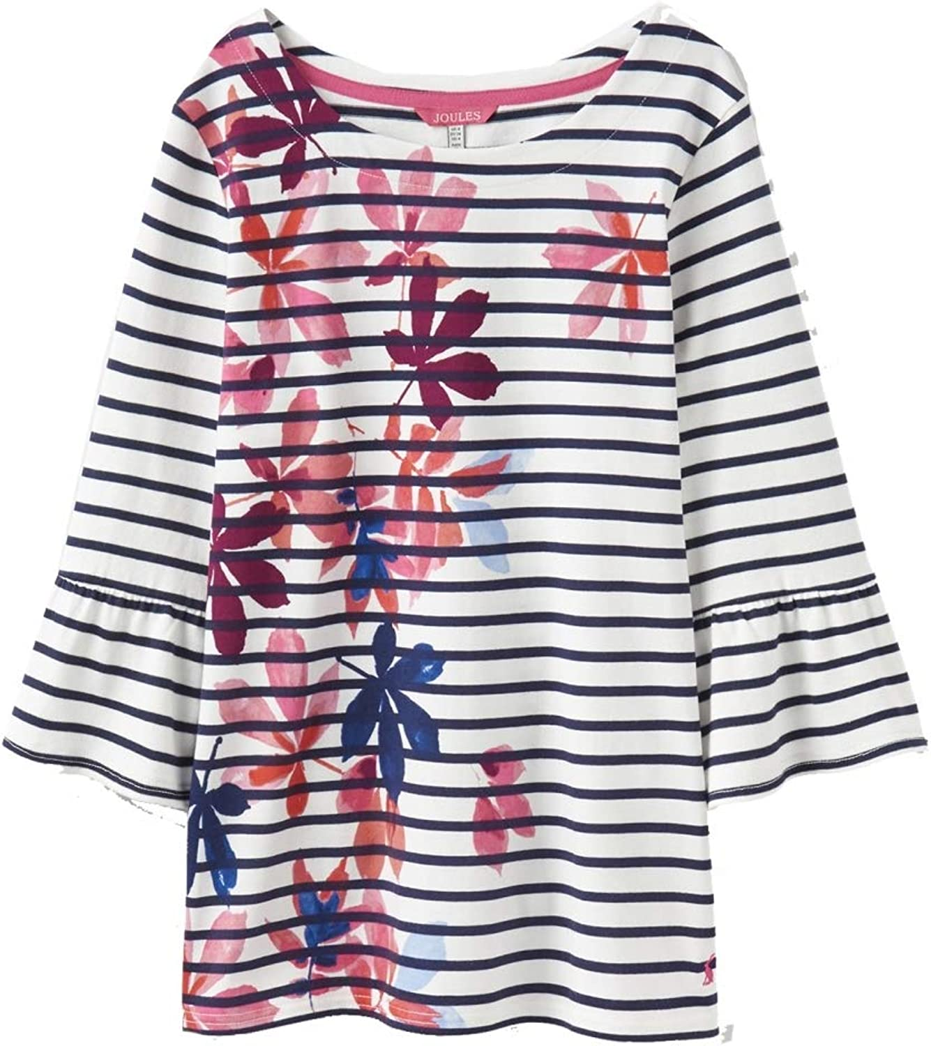 Joules Womens Frances Fluted Sleeve Jersey Top