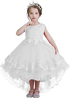 Áo quần dành cho bé gái – Girls Lace Applique Dress Birthday Wedding Party Princess Prom Dresses