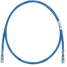 Best Panduit UTPSP25BUY Category-6 8-Conductor Strain Relief Clear Boot Patch Cord, 25-Feet, Blue Review