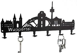 steelprint.de Schlüsselbrett/Hakenleiste * Skyline Wupperta