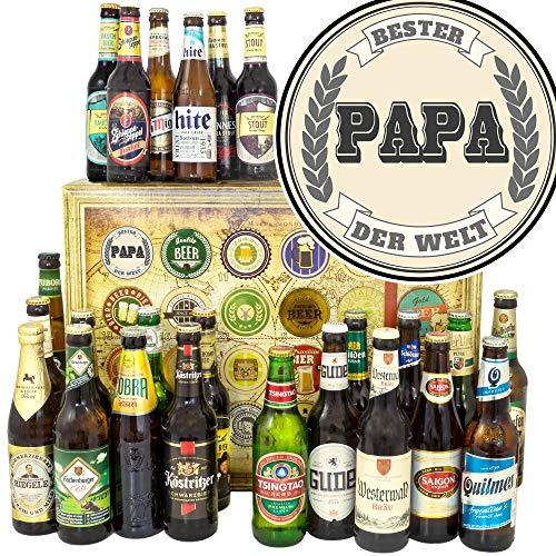 Bester Papa der Welt - Bier aus aller Welt und D 24x - Geschenk für Papa/Bier Adventskalender