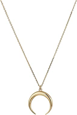 14Kt Solid Gold Cresent Moon Necklace