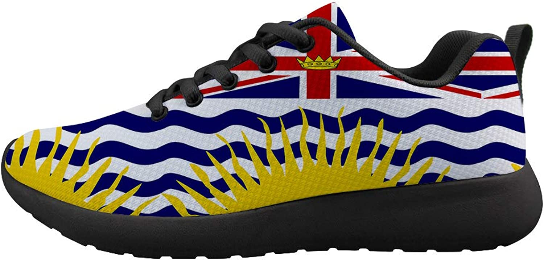 Owaheson Cushioning Sneaker Trail Running shoes Mens Womens British Columbia Flag