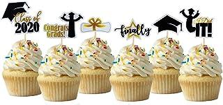 Graduation Cupcake Topper Cardstock 12 Pack Decoration Cake Graduation