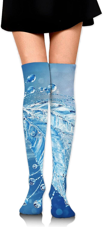 Ocean Water Women Knee Thigh Socks,Suitable for Sport Warm Stocking Boot Sock
