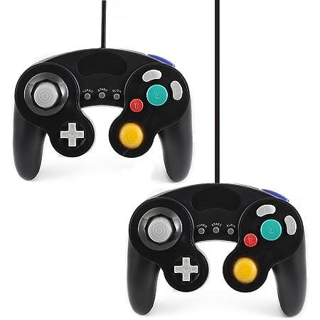 QUMOX 2X Black Wired Classic Controller Joypad Gamepad for Nintendo Gamecube gc & wii (Turbo Slow Feature)