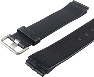 Replacement BLACK LEATHER Watch Band for Jacob Jensen 603, 605, 606, 840, 841, 842, 843, 860,861, 865, 866, 880, 881, 885,...