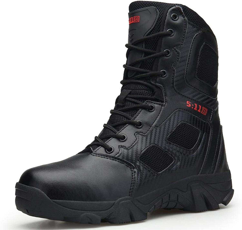 QIKAI Desert Combat Boots Summer Boots Men's Commando Desert Tactical Boots Super Light Breathable Land Boots Hiking Boots