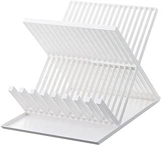 YAMAZAKI home 2607 Tower Dish Drainer-Drying Rack for Kitchen Counters, White