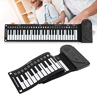 S.A Portable Flexible Piano, 49 Keys Roll Up Electric Piano Hand Rolling Electric Keyboard Built?in Speaker for Kids Begin...
