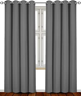 Utopia Bedding Blackout Room Darkening Curtains Window Panel Drapes (Grey Color) - 2 Panel Set, 52 inch Wide by 84 inch Long Each Panel