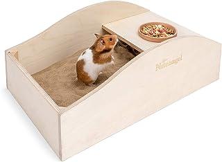 Niteangel Hamster Sand Bath Dust Free Box - Wooden Critter's Shower & Digging Sand Bathtub for Small Animals Like Hamsters...