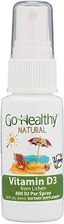 Go Healthy Natural Vegan Vitamin D3 Liquid Spray (Organic Lichen) 2000 IU - 30 Servings