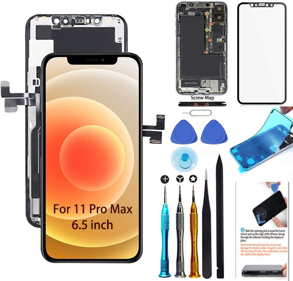 Amazon.com: for iPhone 11 Pro Max Screen Replacement 6.5 inch LCD Display  3D Touch Digitizer Frame Assembly Full Repair Kit with Repair Tools, Screen  Protector, Instructions : Cell Phones & Accessories