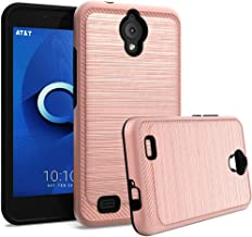 GETE AT&T AXIA Case(QS5509A), Shock Absorbing Dual Layer Protective Phone Cases Cover for AT&T AXIA 2018 (Rose Gold)