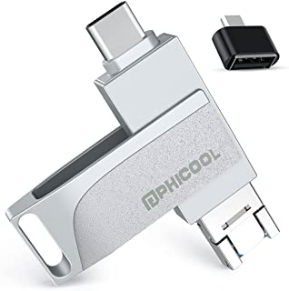 Clé USB Compatible pour iPhone 256GO 4 in 1 Cle USB Photostick 3.0 PHICOOL Clé USB Stockage Externe Thumb Drive Compatible...