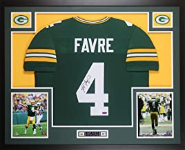 Brett Favre Autographed Green Bay Packers Jersey - Beautifully Matted and Framed - Hand Signed By Brett Favre and Certified Authentic by JSA - Includes Certificate of Authenticity