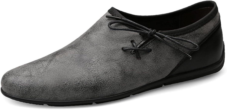 Manliga skor Mikrofiber vårsommar och Slip -Ons Driving Driving Driving skor Casual Comfortable skor Party Khaki, grå (Färg  A, Storlek  45)  Alla varor är specialerbjudanden