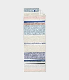 "Manduka 262071431 Yogitoes Skidless Yoga Mat Towel, 71"", Linen Stripe 2.0"