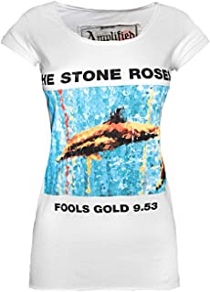 Amplified Stone Roses Fools Gold 9.53 Women's White T-Shirt
