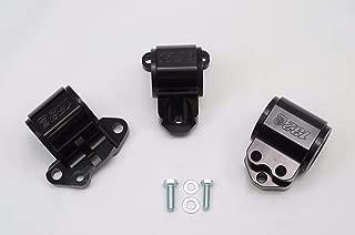 1320 Performance B & D series motor mount 3 bolt driver side black billet EG DC2 65A Stiffness