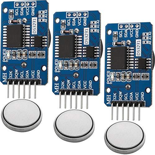AZDelivery ⭐⭐⭐⭐⭐ 3 x Real Time Clock RTC DS3231 I2C Echtzeituhr für Arduino inklusive eBook