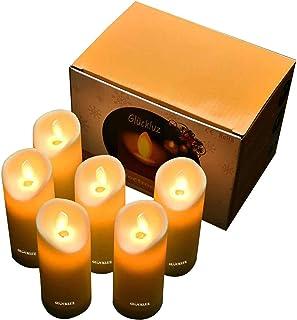 Gluckluz Candles Lights LED Candles Lamp Votive Candle Lights Lighting Flickering Vivid for Wedding Festival Valentine' s ...