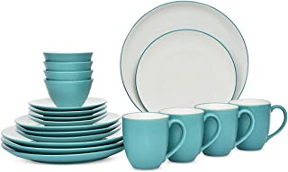 Noritake Colorwave 20-Pc. Coupe Turquoise Dinnerware Set