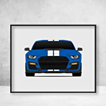 Shelby GT500 2020 S550 Ford Mustang Poster Print Wall Art Decor Handmade Carroll Shelby