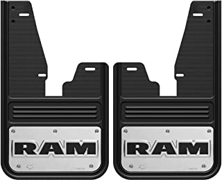 Gatorback RAM Text Logo Truck Mud Flaps (2009-18 RAM Front - with OEM Flares)
