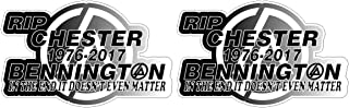 RIP Chester Bennington 1976-2017 Linkin Park Tribute Sticker Decal Pegatinas Aufkleber/Plus Coconut Shell Keychain Ring/In the End it doesn't even Matter Car Truck Bumper Bike Notebook Skateboard