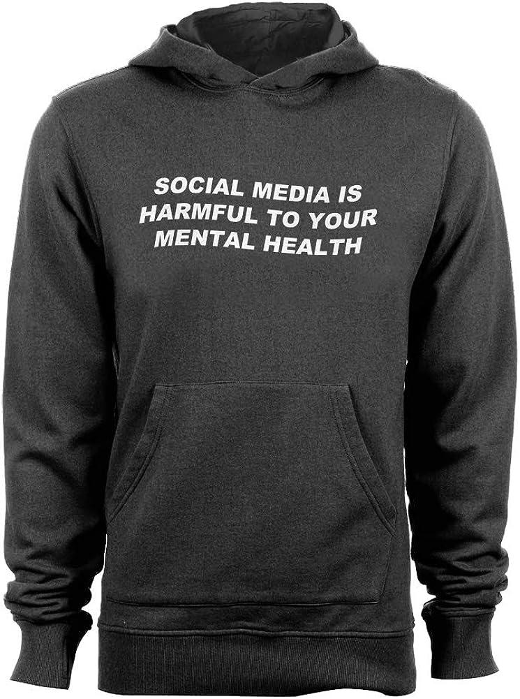 Ranking TOP13 GEEK TEEZ Social Manufacturer regenerated product Media Harms Mental Health Hoodie Men's