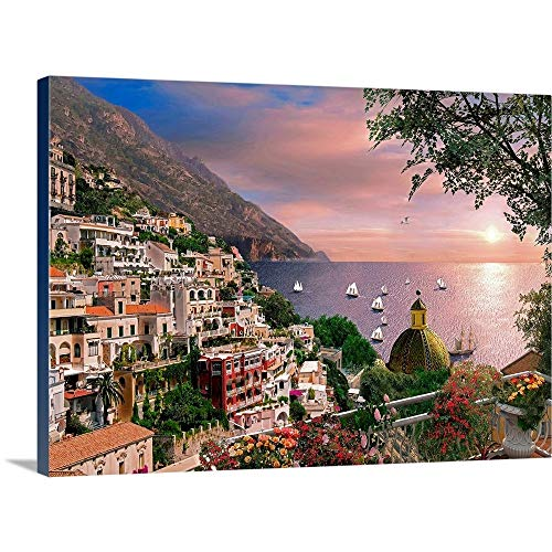 "GREATBIGCANVAS Positano Canvas Wall Art Print, 48""x35""x1.5"""