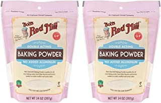 Bob's Red Mill Baking Powder 14 oz (2 Pack) - Double Acting Baking Powder - No Added Aluminum - Baking Powder Double Pack ...