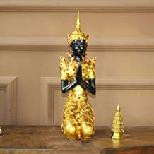 PPCP Buddha Statue Thailand Lucky Big Buddha Synthetic Resin Harbinger of Wisdom and WealthFengshui Figurine Craft Ornamen...