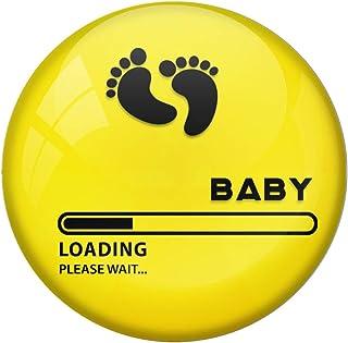AVI Fridge Magnet with Yellow Colour Baby Loading Please Wait Design MR8001002