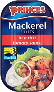 Princes Mackerel Fillets in Tomato Sauce (125g) - Pack of 2