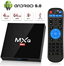 TV Box Android 9.0 [4GB RAM+64GB ROM], Superpow Android Box TV 4K, USB 3.0, BT 4.1, UHD H.265, HDMI, Smart TV Box Quad Core WiFi Media Player, Box TV Android